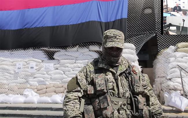 Фото: боевик сепаратистской групировки (youtube screenshot/RafaVideoart channel)