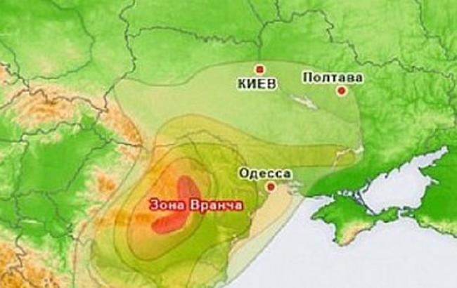 Фото: Карта землетрусу (liga.net)