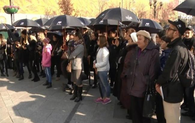 Фото: Акція проти рабства в Києві (24tv.ua)