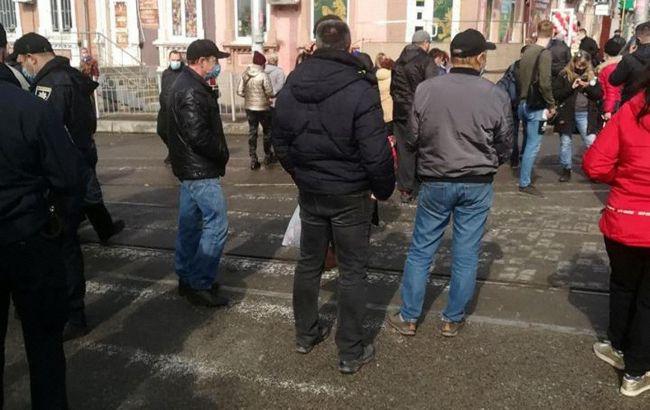 Протест против карантина в Запорожье: полиция возбудила дело