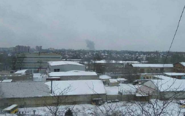 Фото: вибух в Донецьку